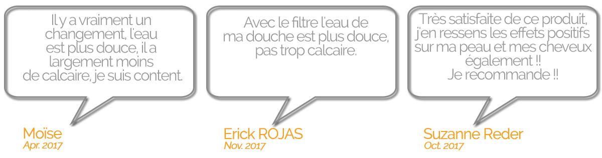 Filtre Douche Anti-Calcaire - commentaires filtre douche