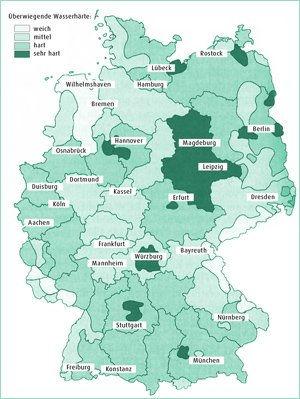 Sie eine Karte von Deutschland