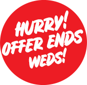 Hurry! Offer Ends Weds!