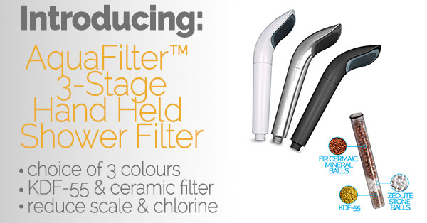 Introducing the AquaFilter 3-Stage Hand Held Shower Filter