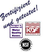 3 Zertifizierungen Duschfilter