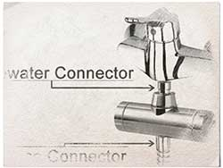 connecting-shower-hose-to-head-graphite-pencil