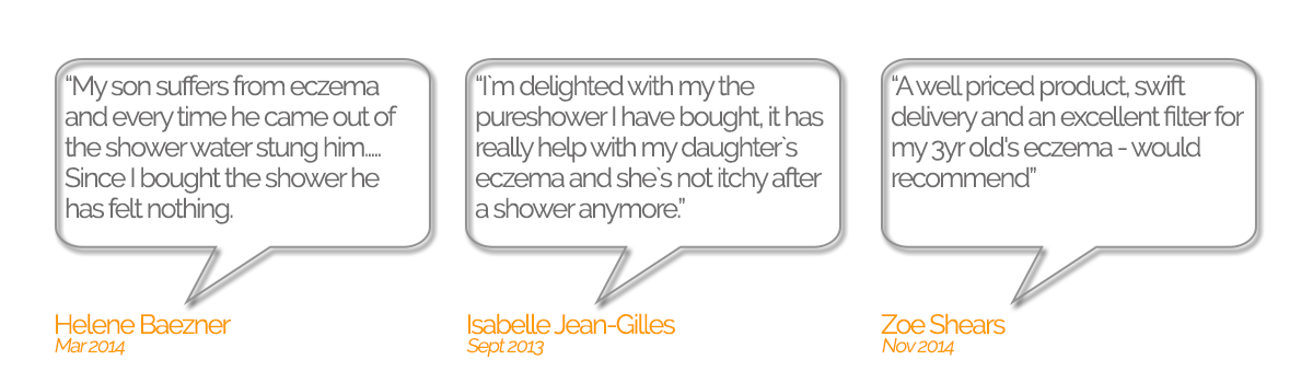eczema shower filter reviews - what our customers say