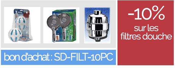 -10% sur les filtres douche - abec bon d'achat : SD-FILT-10PC