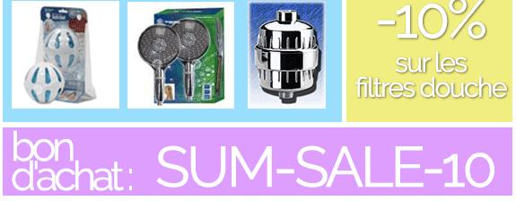 -10% sur les filtres douche - abec bon d'achat : SUM-SALE-10